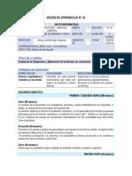 SESIÓN DE APRENDIZAJE N°1  FCC  3° SEC.