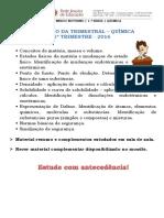 Conteúdo - Trimestral - 1o Ano - 1o Trim - 2016