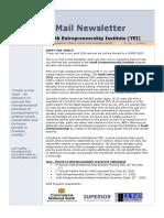 YEI E-mail Newsletter January, 2015