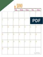 Printable May 2010 Calendar - The TomKat Studio