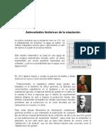 Antecedentes Historicos de La Simulacion