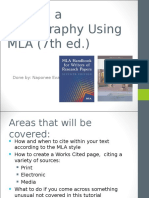 Writing a Bibliography Using MLA (7th Ed.)