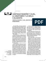 Santiago ramón y Cajal, la anatomía y la mala caligrafía