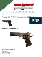 Armscor 1911 A1 FSPS - Armscor Caliber 45 Pistols - Guntech Interarms