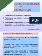 La competencia matemática y las matemáticas