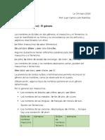 El Género en Lengua Francesa Clase Conalep