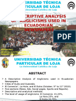 A Descriptive Analysis of Anglicisms Used in Ecuadorian Newspapers