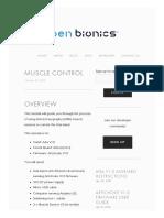 Muscle Control — Open Bionics