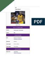 Kobe Bryant Information