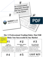 Five Pro Trading Rules