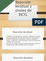 reaccion decidual y niveles de hcg