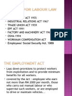 Labour Law Legislation