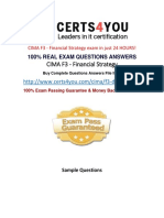 How to pass the Cima F3 exam in first attempt?