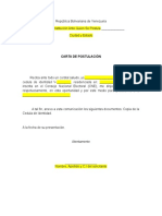 Carta Postulacion
