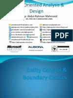 Entity Control & Boundary Classes
