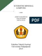 Karakteristik Mineral Lempung