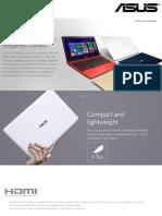 Brochure - Asus EeeBook X205TA
