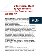 What is Technical Debt and Why QA Testers Should Be Concerned About It