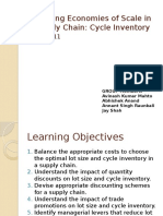 Managing Economies of Scale in a Supply Chain