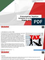 Presumptive Taxation Scheme in a New Avatar