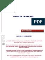 CLASES DE DECISIONES