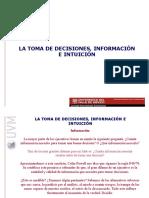 INFORMACIÓN E INTUICION
