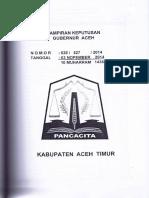 Harga Satuan Kab Aceh Timur 2015
