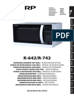 Manuale Microonde Sharp R-642/R-742