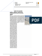Ricostruita la nascita della calotta antartica - Il Corriere Adriatico dell'11 marzo 2016