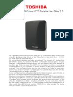 Brochure - Toshiba Canvio 2TB