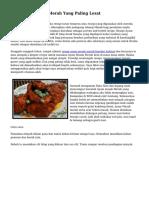 Tips Ayam Masak Merah Yang Paling Lezat