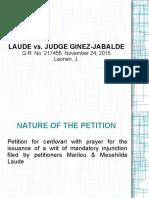Laude vs. Ginez-Jabalde (MCLE)