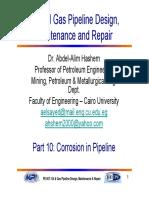 Corrosion in Pipeline