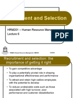 Lecture 6 - Recruitment and Selection