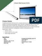 Brochure - D-Light Manual Pull Down Wall Screen 2121L