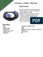 Brochure - LeTaec Kabel VGA Projector - 20M