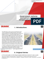 Government Restores Exemptions to Boost Infrastructural Projects