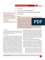 A Review on Therapeutic Management of Chronic Hepatitis B Infection