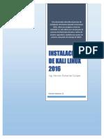 Instalacion de Linux Kali 2016