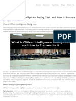 What is Officer Intelligence Rating Test and How to Prepare for It