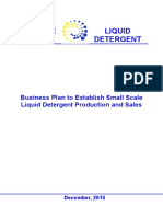 Business Plan for Establishment of Liquid Detergent Plant
