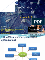 SAP APO Training course content(AcuteSoft)