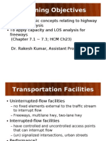Highway Capacity Lecture 1&2