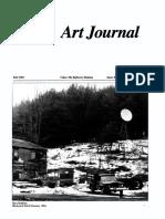 Art Journal 45 3 Video the Reflexive Medium