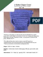 Side Button Diaper crochet