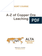 leaching of Copper