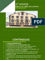 At school  - Ingles Primaria