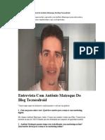 Um Pouco Sobre a História Do Antônio Maiesque Do Blog Tecnosdroid