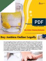 Buy Ambien Prescription Sleeping Pills Online