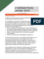 Hydraulic Institute Pump FAQs December 2010